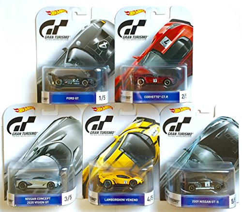 Hot Wheels Gran Turismo Retro Entertainment Set Of 5 Ford GT