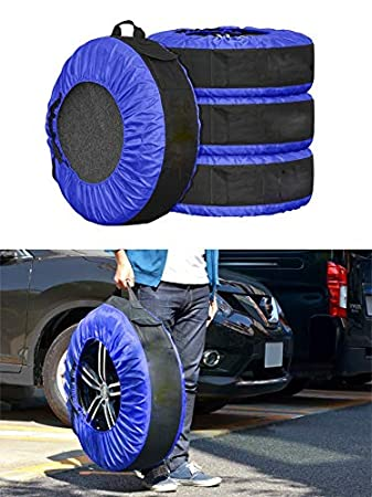 FLR 4 Pcs Wheel Felts 55cm//21.4in Black Lightweight Dustproof Tote Felts Cover for Tire Wheel
