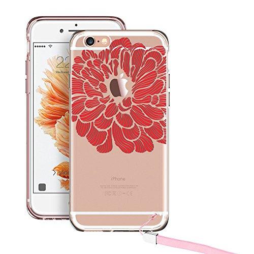 iPhone ESR Mandala Pattern Plus Scarlet