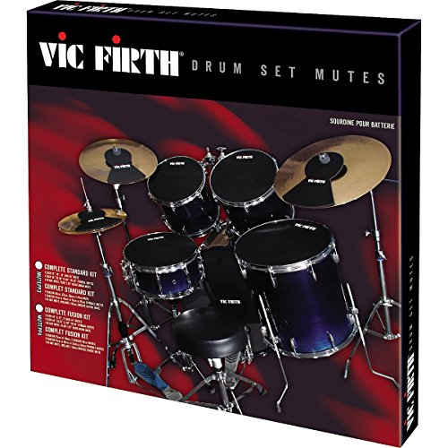 Vic Firth Drum Mute Prepack with Mutes Sized 12, 13, 14, 16, 22 Inches, Hi-hat and 2 Cymbal Mutes