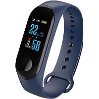 Konesky Fitness Tracker Monitor de Ritmo cardíaco Pulsera de presión Arterial Actividad Reloj Podómetro Contador de calorías Pulsera para Android iOS Smartphone