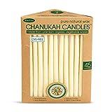 Eco-Friendly Hand Dipped Pure Natural Wax Chanukah Hanukkah Candles/45 Candles per Box