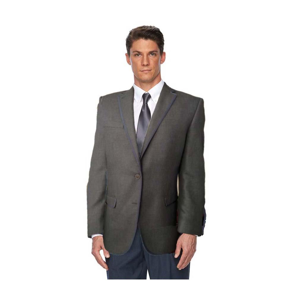 2f0349782331 Van Heusen Studio Modern-Fit Checked Sport Coat - Men Black/Brown at Amazon  Men's Clothing store: