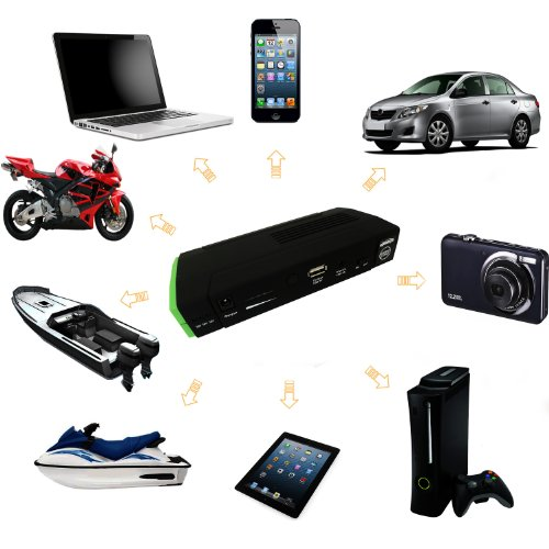 "LB1 High Performance Portable Jump Starter Power Bank 13600mAh External Battery Packs for HP 15.6"" Pavilion Notebook 8 GB Memory 750 GB Hard Drive G6-2208CA C7C75UAR"