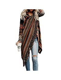 ONAMANO Women Wrap Shawl Cardigan Loose Sweater Poncho