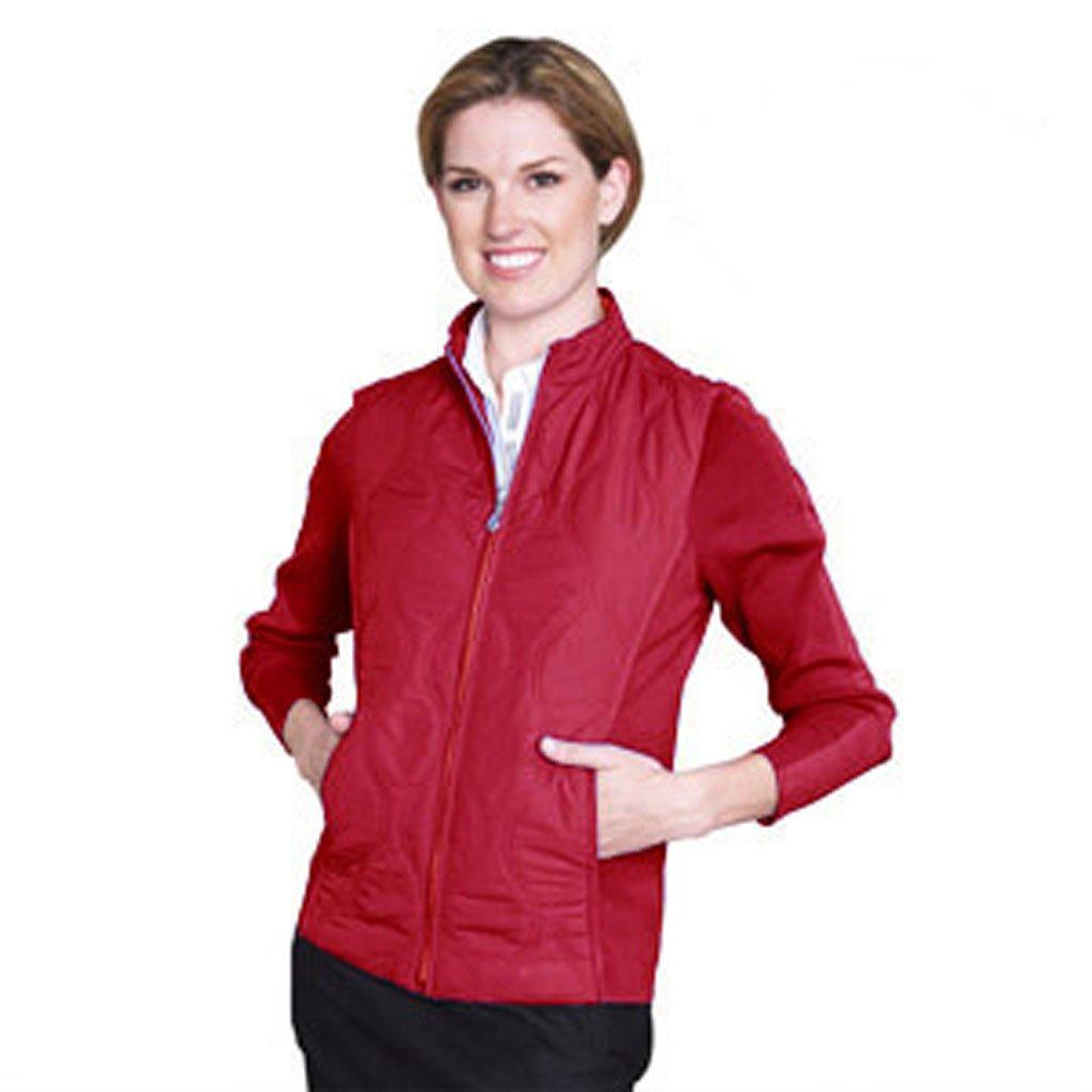 Monterey Clubレディースキルトジャケットwithリブサイドパネルと袖# 2705 S レッド B00CEHR3RK