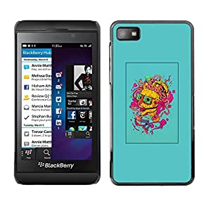 Shell-Star Arte & diseño plástico duro Fundas Cover Cubre Hard Case Cover para Blackberry Z10 ( Brain Colorful Thought Art Painting Portrait )
