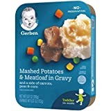 Gerber Mashed Potatoes with Meatloaf & Gravy and a