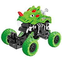 PBOX Dinosaur Monster Truck Toys,Pull Back Cars with Shockproof Spring and Textured Rubber Tires,Car Toys for Aged 3-12 Year Old Boys & Girl Vehicles Gift