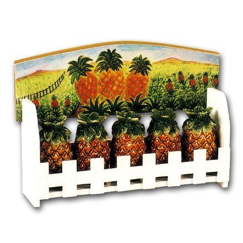 Ceramic Pineapple Kitchen Spice Jars With Wood Organizer Rack