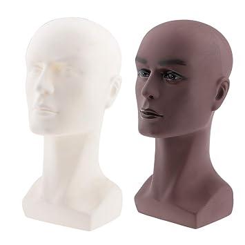 CUTICATE 2 piezas/set de maniquí masculino calvo, cabeza de ...