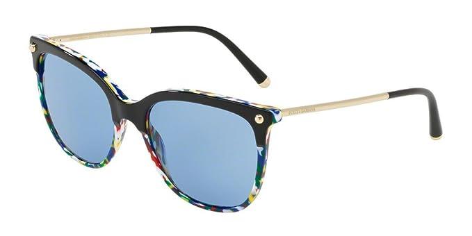 Dolce e Gabbana 0DG4333, Gafas de sol para Mujer, Top Black ...