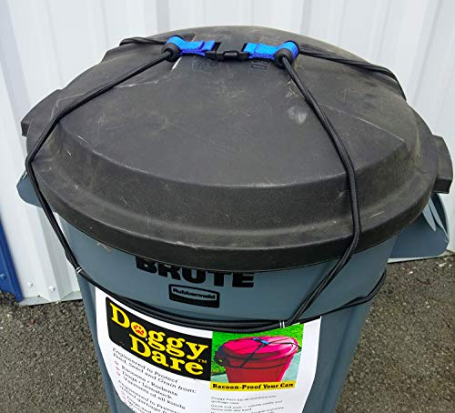 Dog Proof Outdoor Trash Can Lock fits 33 Gallon