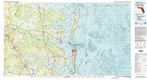 (YellowMaps Fernandina Beach FL topo map, 1:100000 Scale, 30 X 60 Minute, Historical, 1981, Updated 1993, 24.1 x 43.9 in - Paper)