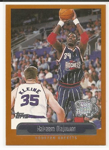 Hakeem Olajuwon 1999-00 Topps Tip-Off Houston Rockets Card -