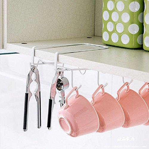 GeLive-Under-The-Shelf-Mug-Holder-Storage-Drying-Rack-Hanging-Organizer-8-Hook-Metal-Closet-Organizer-Storage