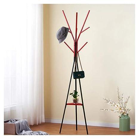 GAOLIHUA Perchero Simple Rack de Piso Vertical Dormitorio ...