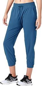 Naviskin Women's UPF 50+ Sun Protection Outdoor Capri Pants Lightweight Workout Running Jogger Yoga Capri Pants