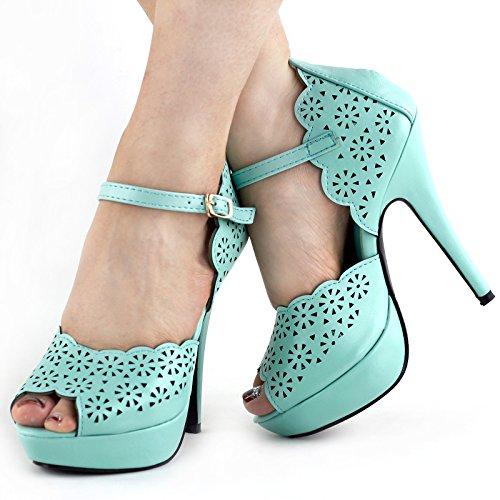 Show Story - Zapatos de tacón  mujer Azul - azul claro