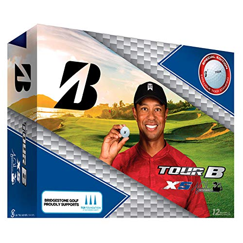 Bridgestone Tour B XS Tiger Woods Edition Golf Balls, Packaging may vary from Bridgestone Golf