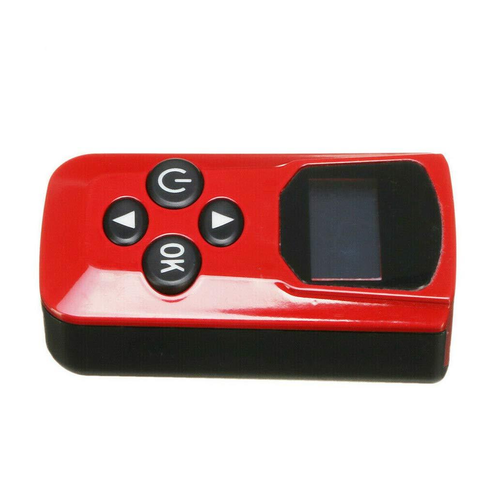 Rojo Faderr 12 V 24 V Juego de Control de Calentador de estacionamiento Azul Interruptor de Monitor de Coche con Pantalla LCD Tama/ño Libre