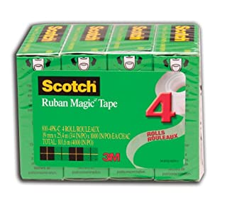 Scotch Tape Magic Tape, 19mm Wide x 25.4m, 4 Rolls (B00ENFQFBG) | Amazon Products