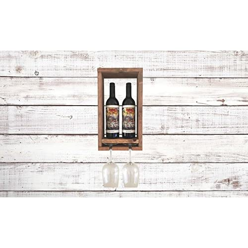 Wine Glass Bottle Rack for Two