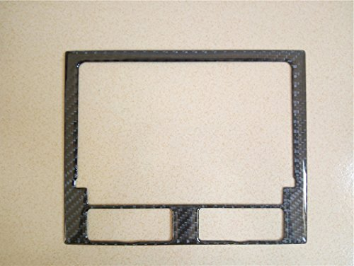 Carbon Fiber Interior Decoration Decal Frame Cover Trim Sticker For Porsche Macan Type 95B 2014-present (Instrument Panel NAVI Media Screen Cover)