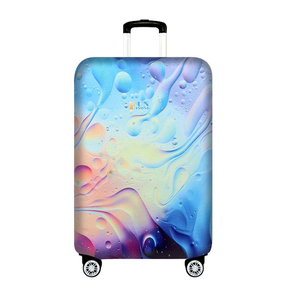 DHUYUN-Bag Luggage Cover Protector Travel Elastic Spandex Luggage Cover for 19-21 Inch Luggage Against Dirt and Scratch and Water Resistance Washable Baggage Covers 18-21 Color : A, Size : S