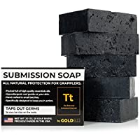 Premium Tea Tree Oil Soap - With Activated Charcoal! 100% All Natural USA Made Bars for BJJ, Jiu Jitsu, Wrestling - Combats Ringworm, Jock Itch, Athlete's Foot (5-Pack of 4 Ounce Soap Bars)