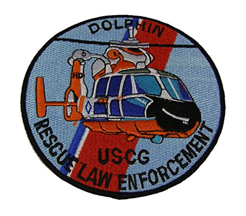 USCG HH-65 DOLPHIN HELICOPTER PATCH - COLOR - Veteran Owned Business (Coast Cruise Jacket)