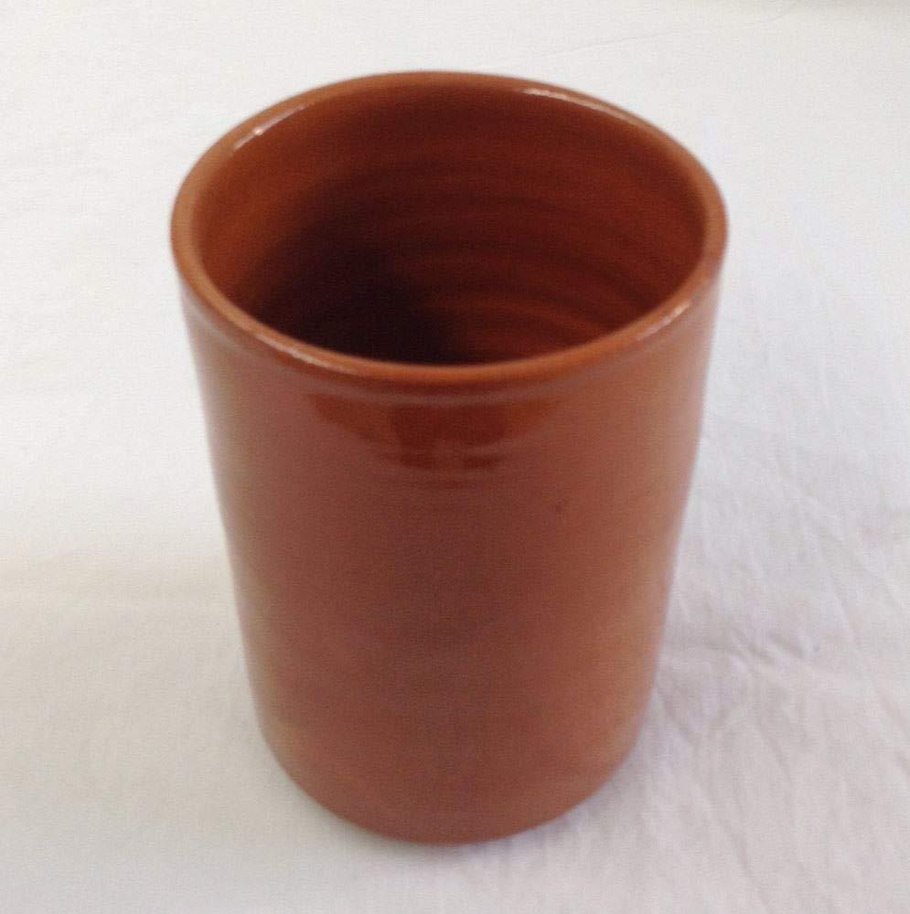 Vaso de barro para cerveza hecho a mano 33 cl.