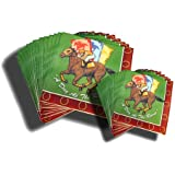 """HORSE RACING PARTY NAPKINS """"DAY AT THE RACES"""""""