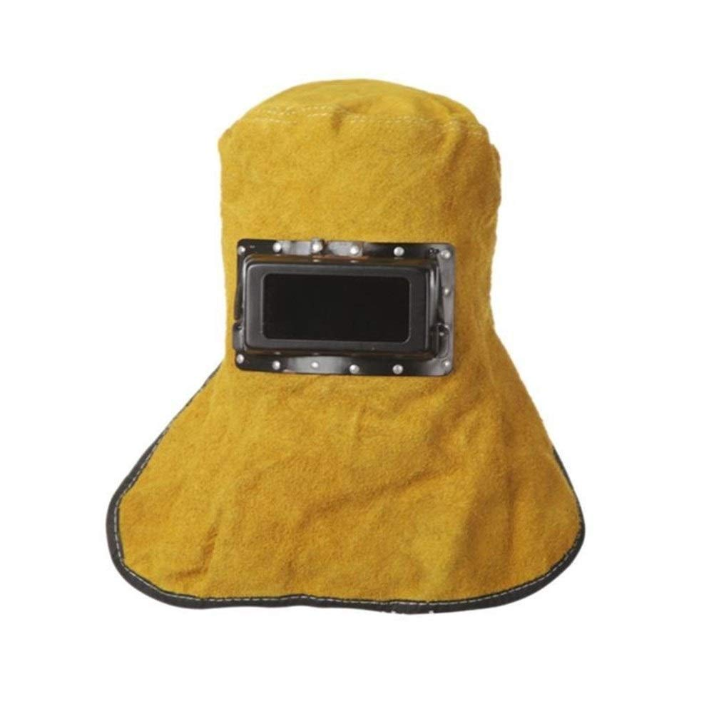 YUANYUAN521 Welding Mask Cow Leather Head Eye Protector Lens Glasses Fireproof Safe Hood Helmets Solder Welding Tool by YUANYUAN521