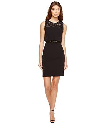 35f5b4a86e630 Aidan Mattox Womens Crepe and Lace Cocktail Dress at Amazon Women s  Clothing store