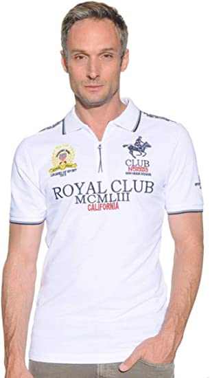 Polo de Manga Corta para Hombre Geographical Norway: Amazon ...