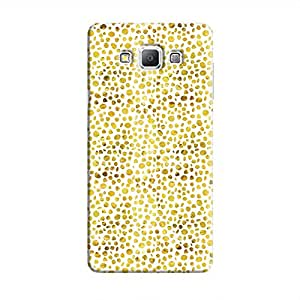 Cover It Up - Gold White Pebbles Mosaic Galaxy A8 Hard Case