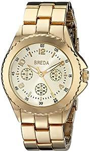 "Breda Women's 8128_gold ""Abigail"" Gold-Tone Watch"