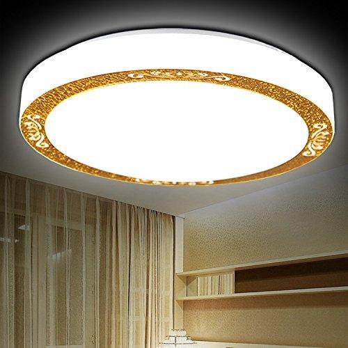FXING LED-Decke Leuchte Pendelleuchte für Esszimmer Bad Schlafzimmer Flur Küche runden 41 cm - warmes Licht