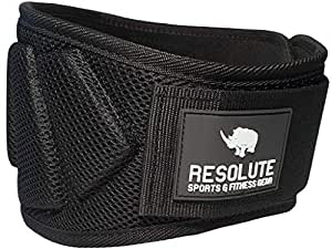 Resolute Fitness Weight Lifting Belt for Men and Women for Weight-Lifting, Crossfit, Olympic Lifting, Powerlifting, Squat and Deadlifts (Black, Small)