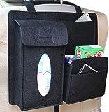 Multi-Pocket Travel Storage Bag Car Accessories Car Seat Organizer Black