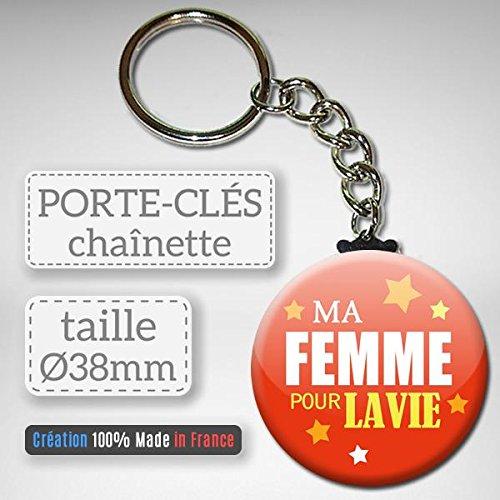 Ma Femme pour la Vie Porte Clés Chaînette 3,8 centimètres Idée
