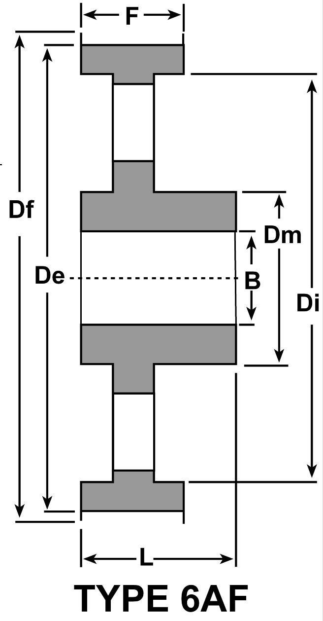 Aluminum 32 Teeth D/&D DD36AT5-32 2-6F-A AT5 Metric Pitch Aluminum Synchronous Belt Pulleys