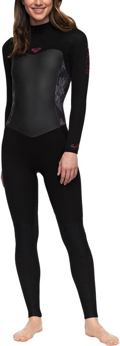 Roxy 5 / 4 / 3 Syncroシリーズback-zip Wetsuit – Women 's ブラック