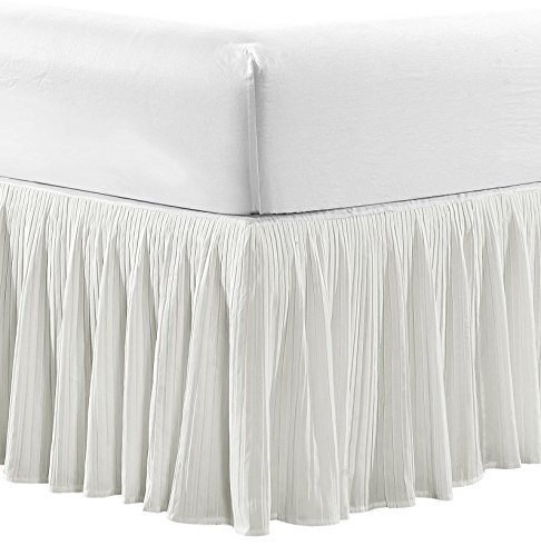 Home Soft Things Serenta Tivoli Ikat Pleated Matching Bed Skirt, 78