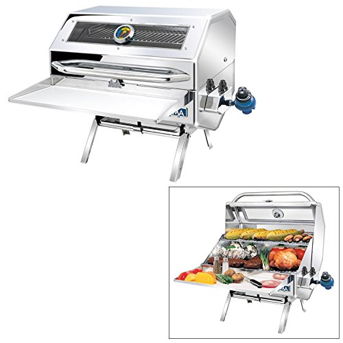 (Magma Products, A10-1218-2GS Catalina 2 Infra Red Gourmet Series Gas Grill, Polished Stainless Steel)