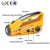 Emergency Radio Flashlight, XLN-288DUS Crank Dynamo AM/FM Radio with Flashlight Hand Cranking Rechargeable Emergency Flashlights for Camping Outdoor Hiking Climbing