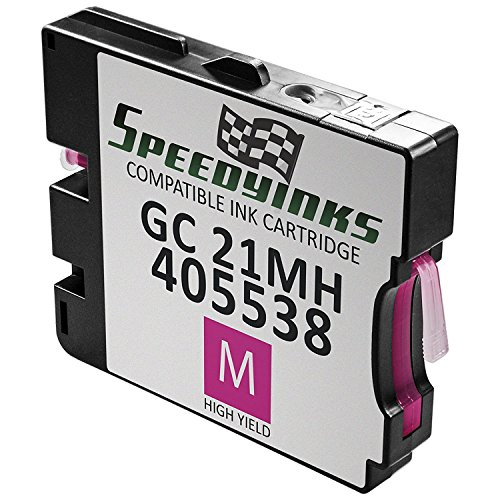 Aficio Gx3000 Inkjet Printer - Speedy Inks - Compatible Ricoh 405538 High-Yield Magenta Ink Cartridge GC 21MH for use in Aficio GX2500, GX3000, GX3000S, GX3000SF, GX3000SFN, GX3050N, GX5050N, GX7000