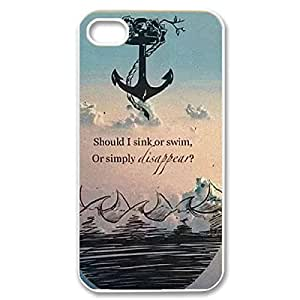 Fashionable Bring Me The Horizon Design Sublimation Printed Personalized Case Cover for iPhone 4/iPhone 4s _White 30808