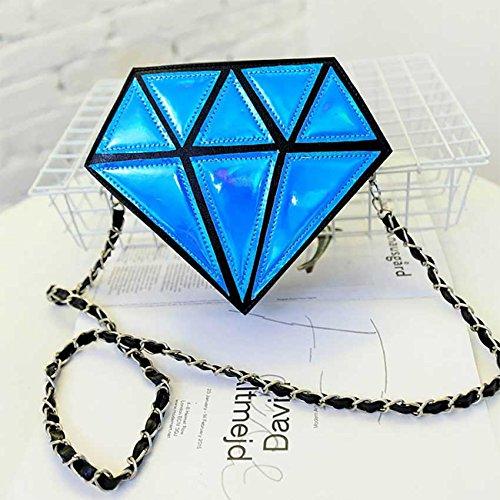 Ologramma Diamante Blu Tracolla Sacchetti A Borsa Di Cielo Aassddff Catena Crossbody Mini Rosso Messaggero Forma Frizione ZzFqA8xw
